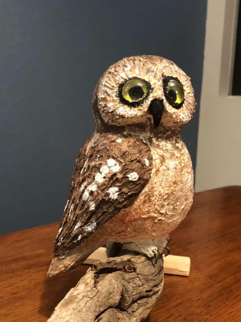 Little Sawwhet Owl sculpture