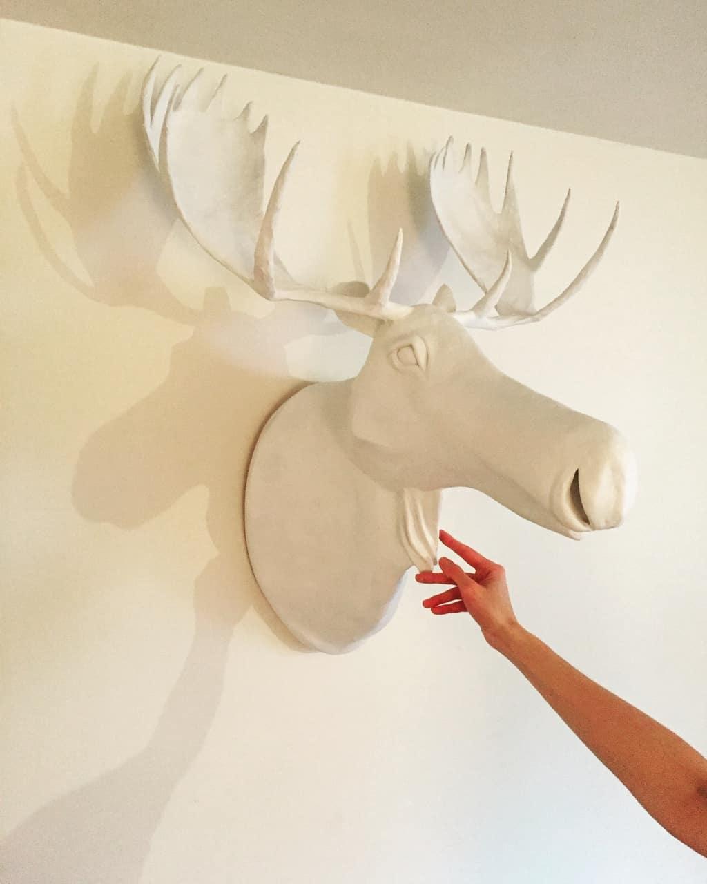 Paper Mache Moose