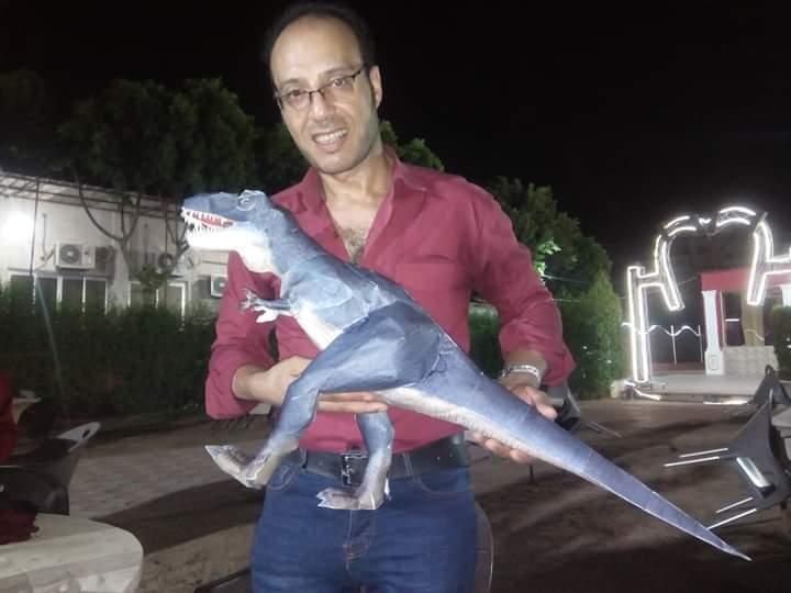 Paper Model of a Dinosaur