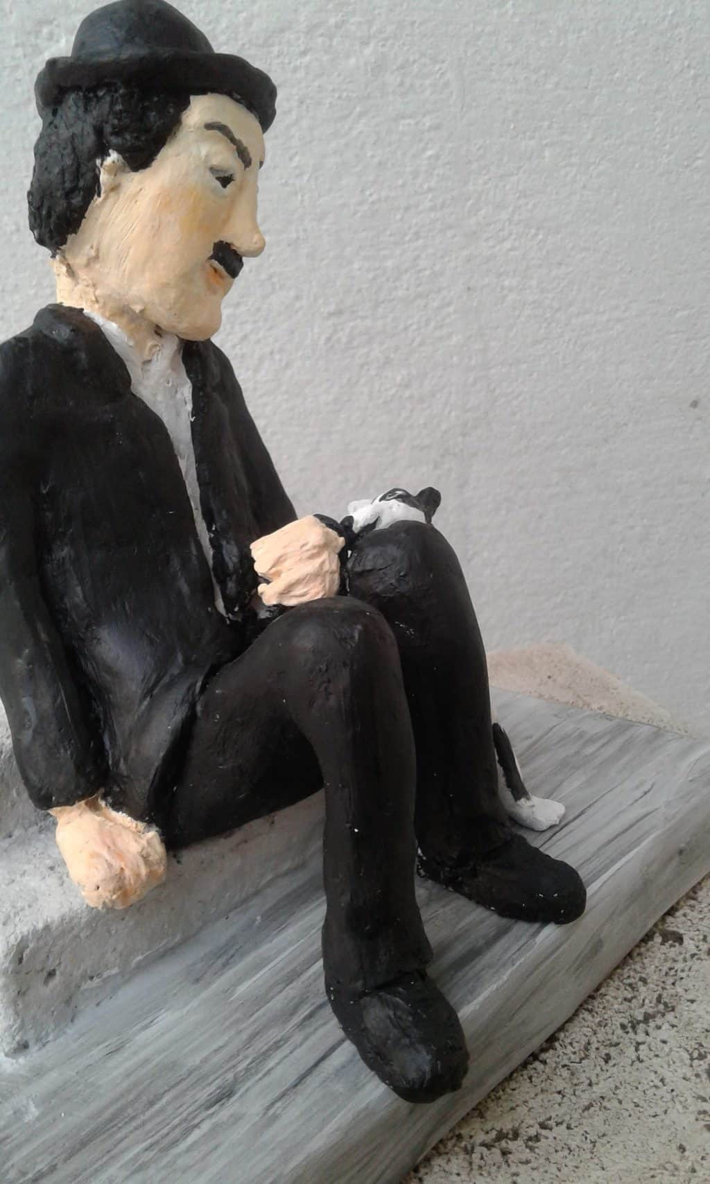 Paper mache Charles Chaplin