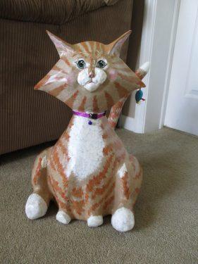 Paper Mache Cat Penelope