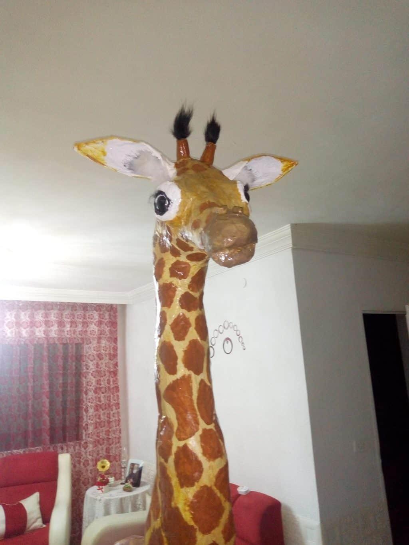 Paper mache giraffe for granddaughter