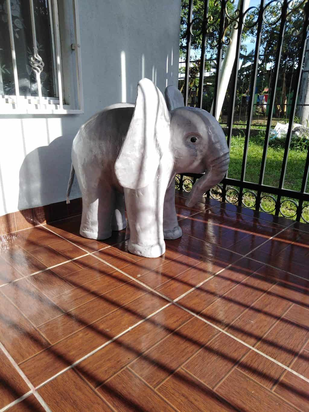 Large paper mache baby elephant