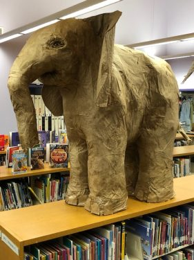 Baby African Elephant at the Library