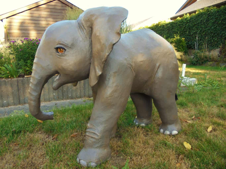 Mah Moet paper mache elephant