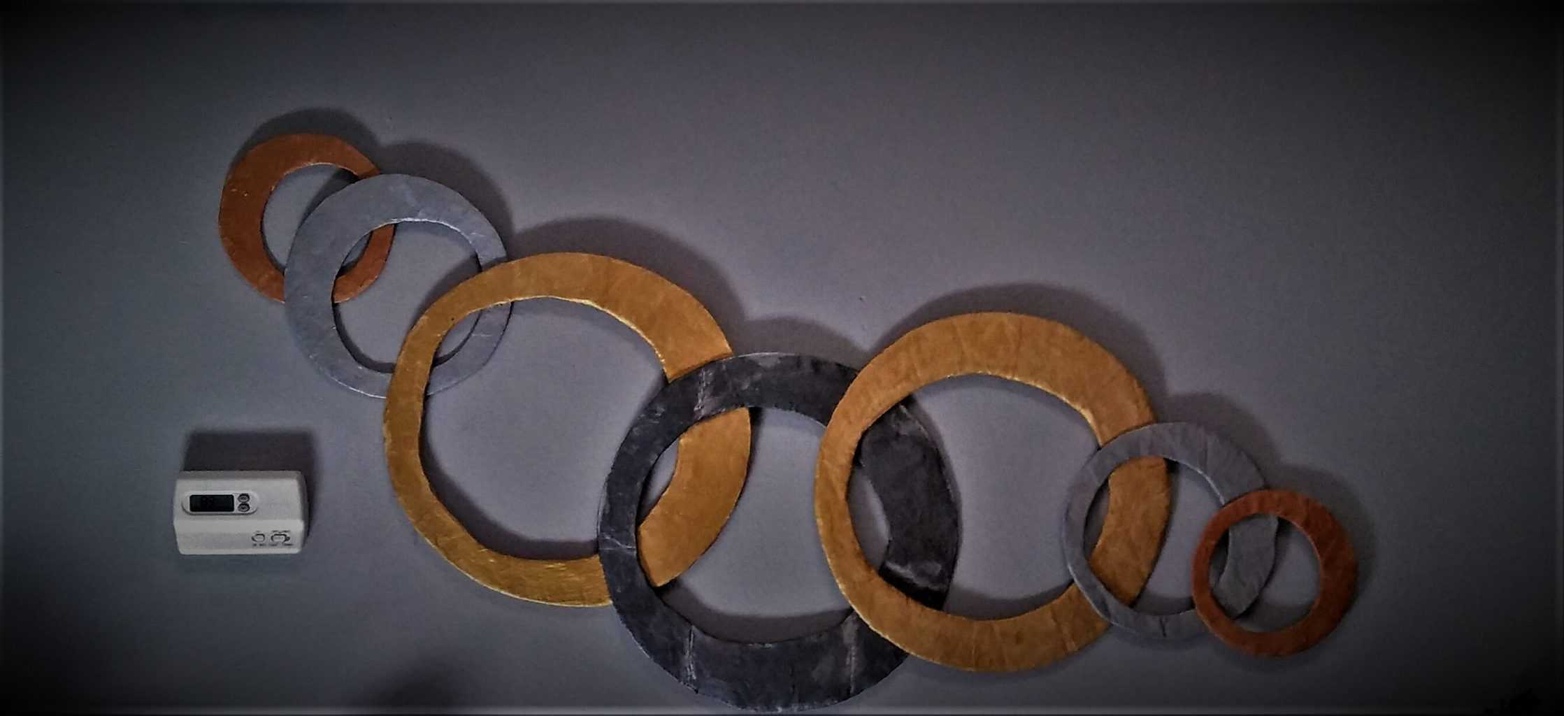 Paper Mache Ring Abstract Wall Art