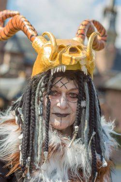 A Witcher's head dress. Wendigo-inspired.