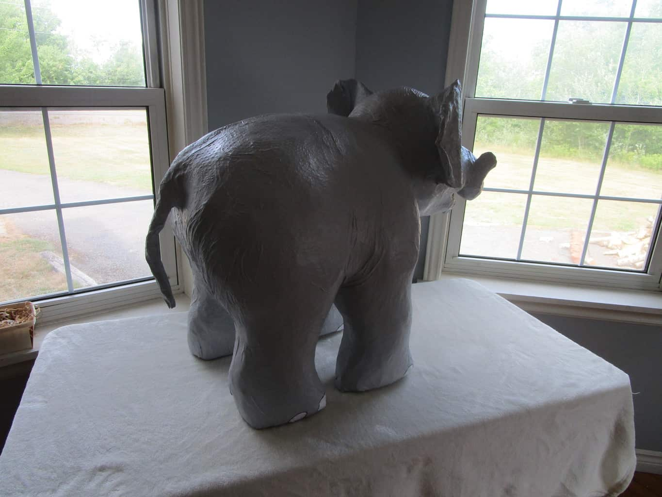 Paper mache Indian elephant