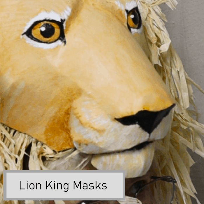 Lion King Mask Patterns