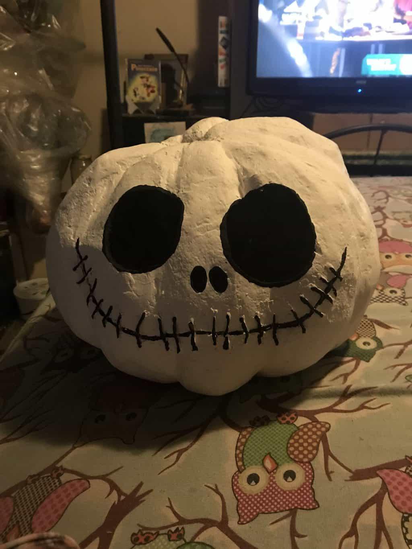 Paper mache jack pumpkin
