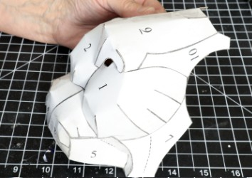Cut out the pattern pieces and tape them together.