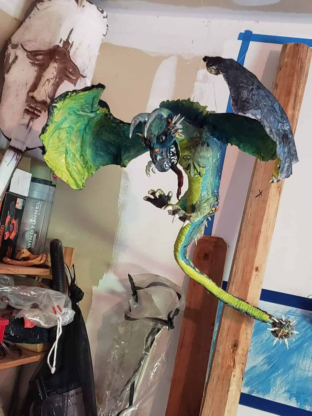 Dragon named Baby from Game of Thrones - paper mache