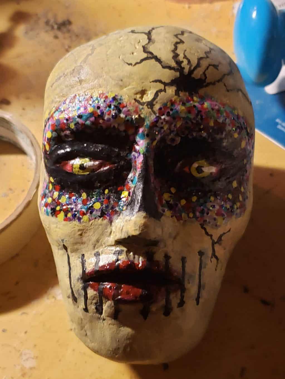 Paper Mache Clay Sugar Skull