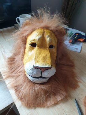Lion mask for The Lion the Witch and the Wardrobe Play
