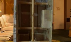 Keeping cardboard from warping with paper mache