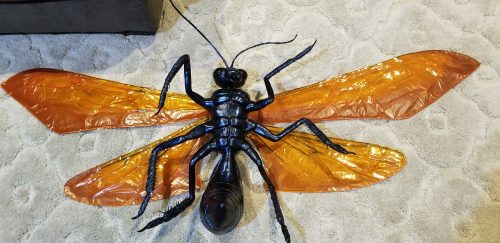 paper mache Tarantula hawks