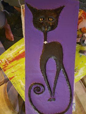 Paper mache Cat jewelry box