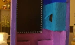 Paper mache jewelry box