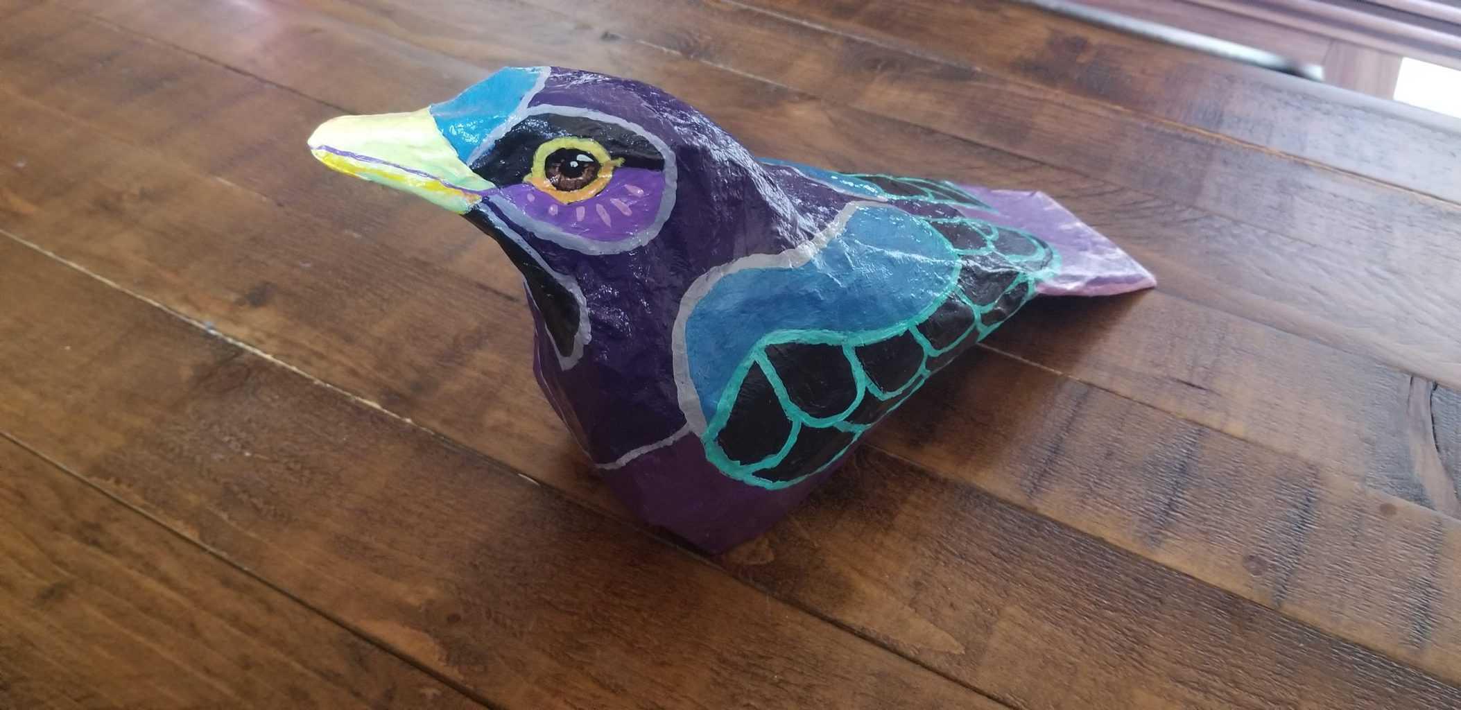 paper mache blackbird