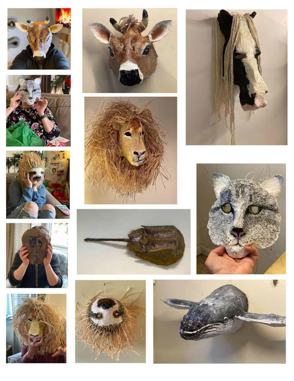 Masks made for Christmas presents