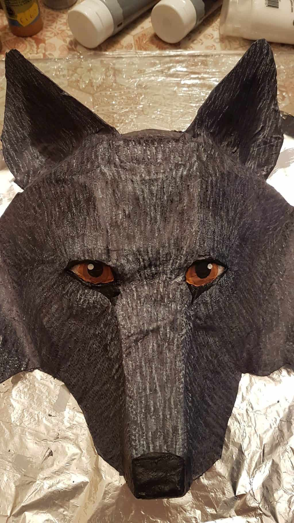 Wolf mask 1st attempt