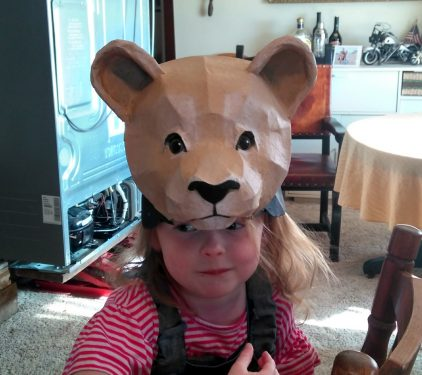 Young Simba paper mache mask from the Lion King
