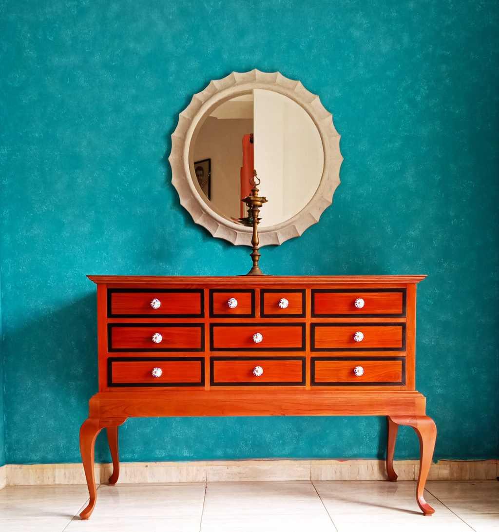 Paper Mache Circular Mirror