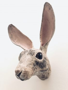 jack rabbit wall sculpture