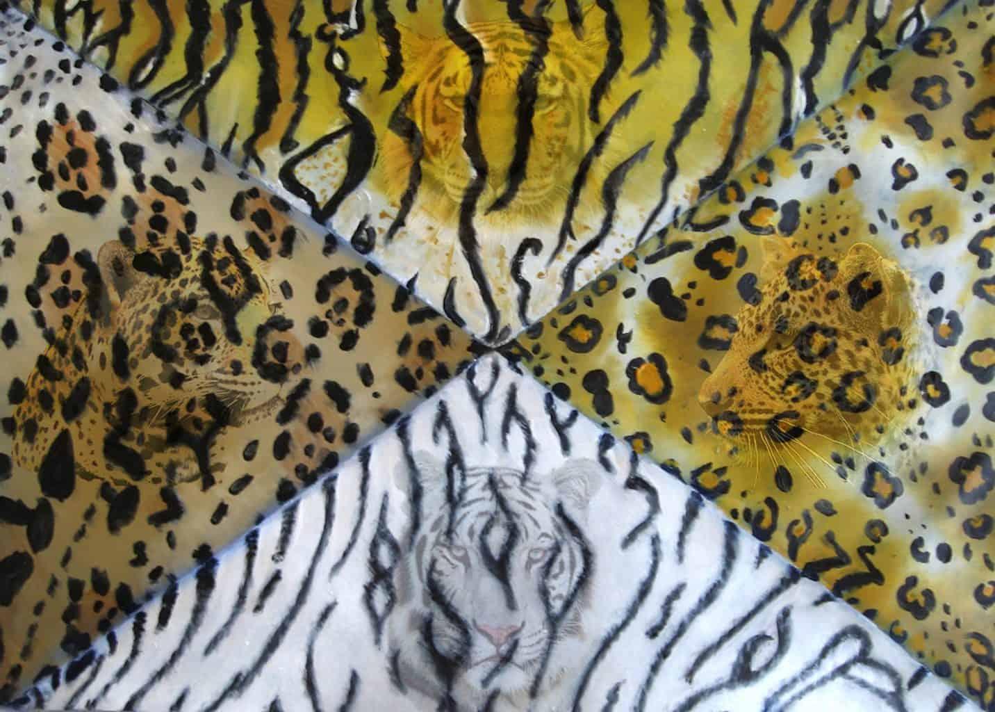 Wild Cats Canvas Floor Cloth