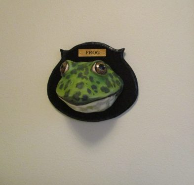 Giant Bullfrog Head Wall Sculpture