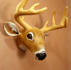 DIY Deer wall sculpture