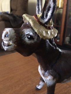 paper mache donkey