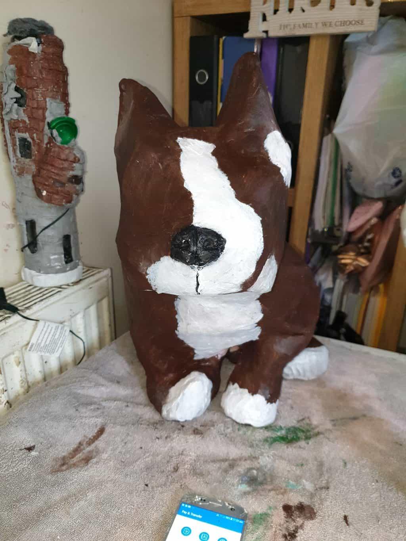 Paper mache dog