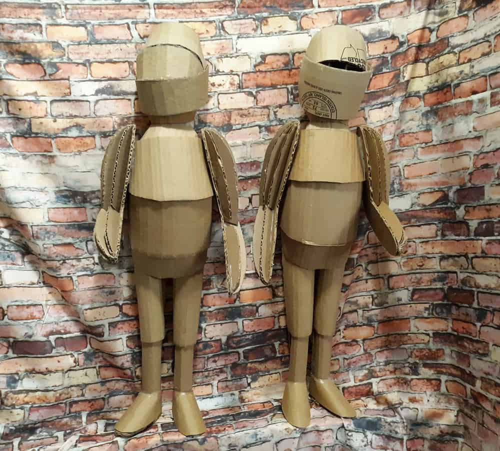 Paper Mache Armored Guards