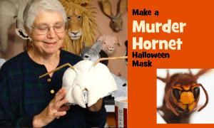 Murder hornet halloween mask