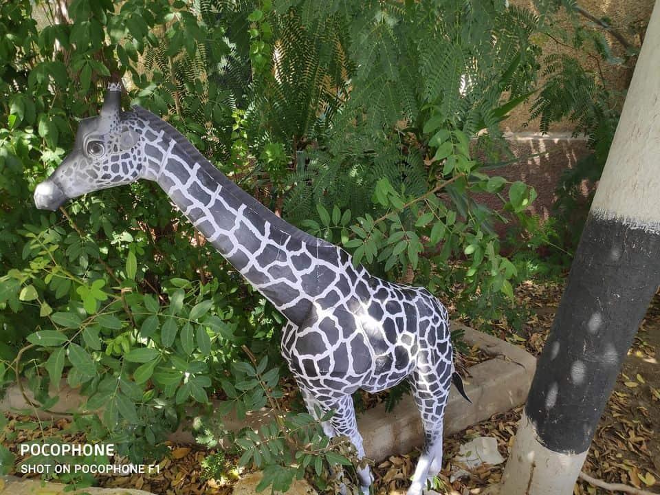 Giraffe by hamada shata Egyptian artist