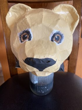Young Nala Headdress Mask for the Lion King Play