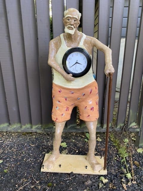 outdoor grandfather clock