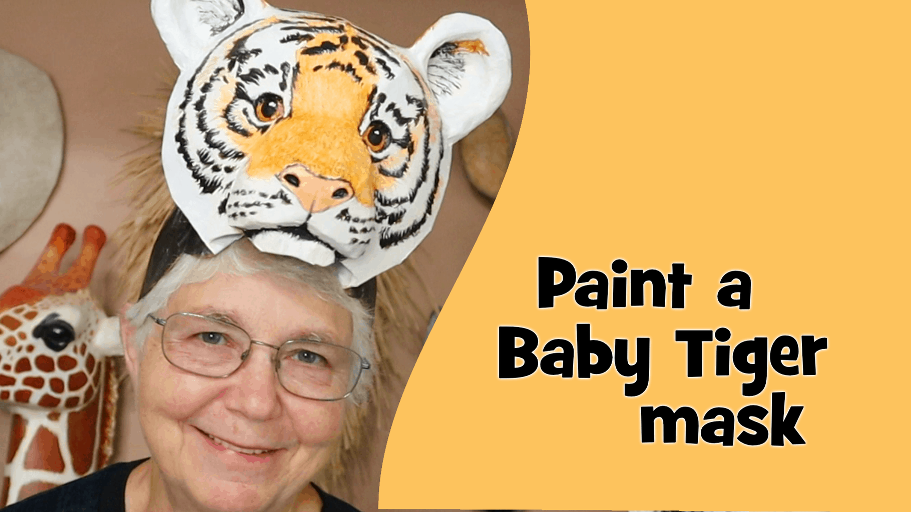 Paint a baby tiger mask