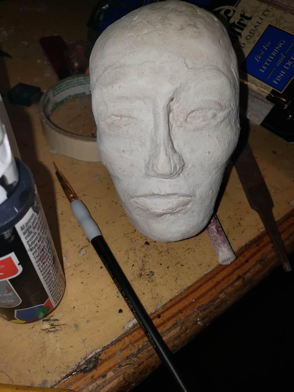 Paper Mache Clay Skull