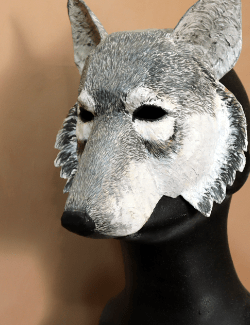 Wolf mask pattern template