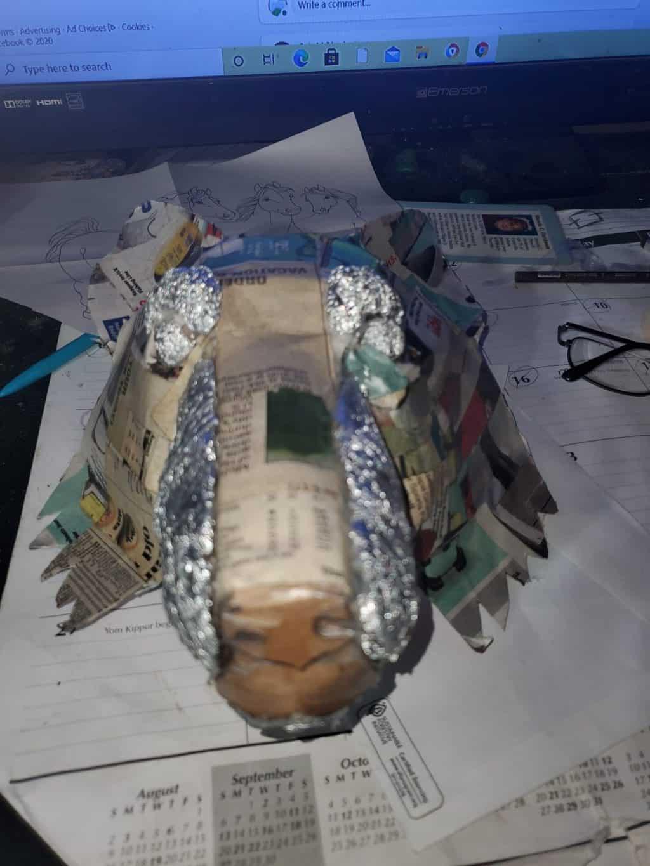 Wolf mask in progress