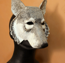 Wolf mask template pattern
