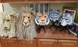 Lions, Tiger and Wolf Masks