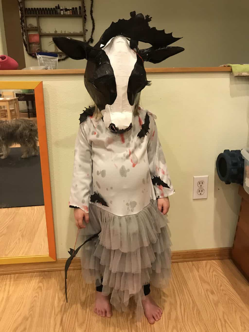 cow mask with bat