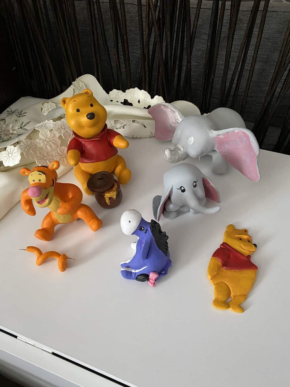 Pooh n friends paper mache clay