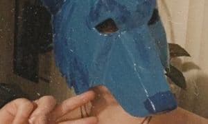 Bleu the blue coyote