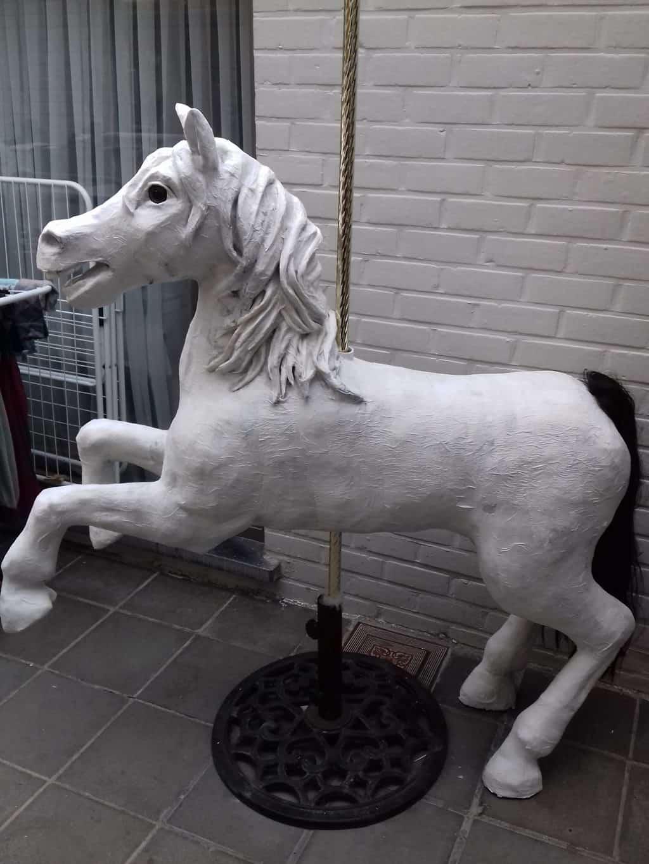 Carousel Horse in Paper Mache Clay