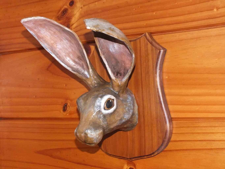 Jack Rabbit Faux Trophy Mount