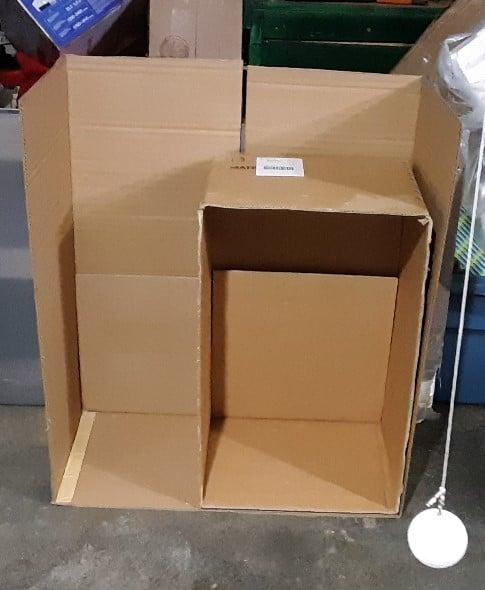 Starting on the cardboard mini-bar